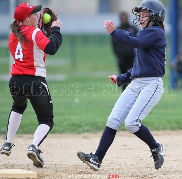 Action during the Watkins Glen vs. Spencer-Van Etten softball game, May 13, 2015.