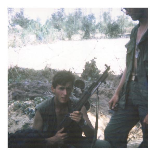 "LW20: Joseph ""The Dud"" Bruggeman with an AK. May be Mahlon Fegley on right."