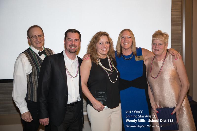 Wendy Mills of School Dist 118 received WACC 2017 Shining Star Award