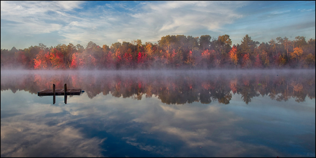 Mist On The Water At Sunrise