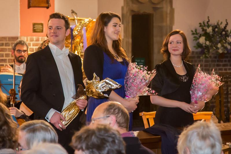 Richard Walshe (Bass), Hannah Poulsom (Alto), Galina Averina (Soprano)
