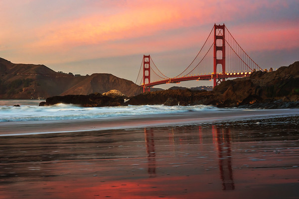 Golden Gate Pink Reflections