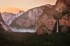 Pink Last Light Over Yosemite