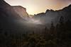 Sunrise Glow Over Yosemite
