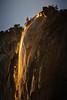 Yosemite Fire Fall Smoldering