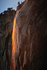 Yosemite Fire Fall Orange Glow