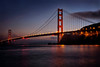 Lighted Golden Gate