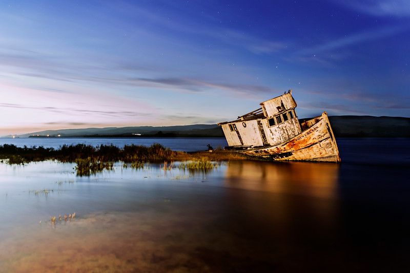 Point Reyes Shipwreck Under the Stars