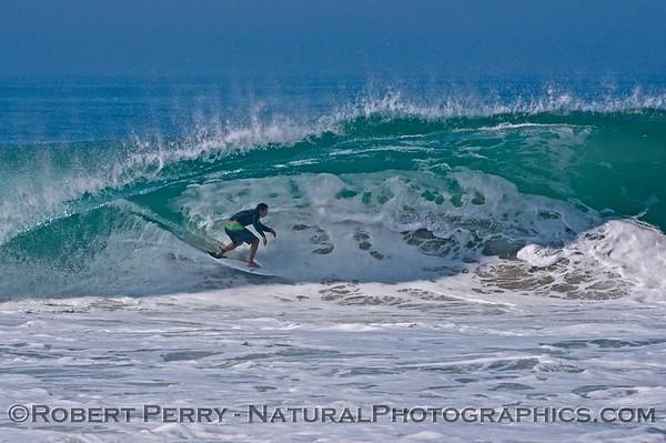 Hurricane Marie storm surf pounds Zuma Beach - Malibu
