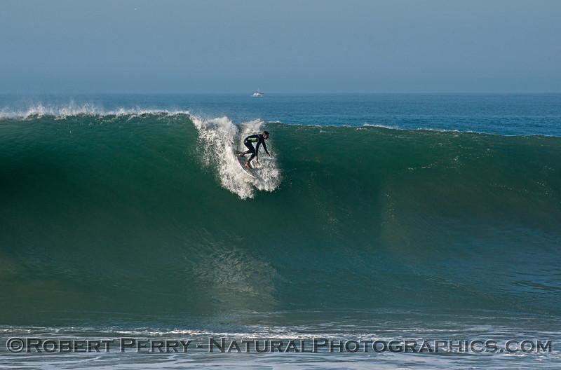 Hurricane Marie storm surf pounds Point Mugu California - west side