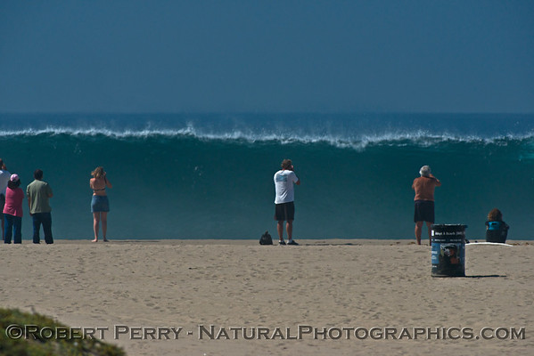 Hurricane Marie storm surf pounds Zuma Beach - Malibu