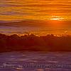 Orange waves of sunset
