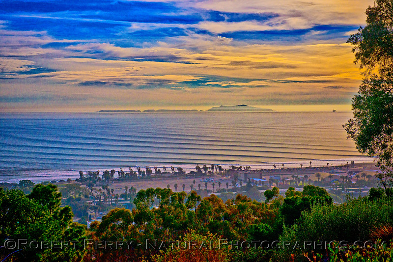 late afternoon and some corduroy waves 2016 01-22 SB Channel-a-170 HDR