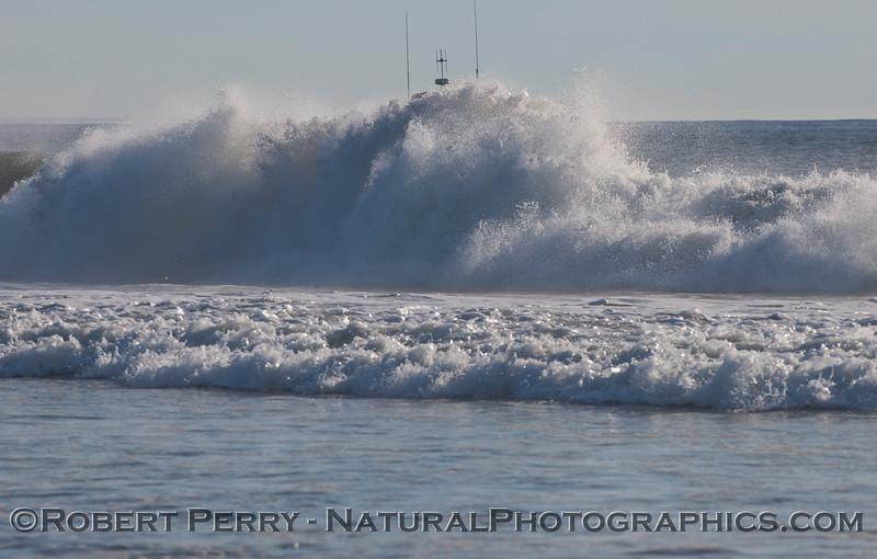 big wave white water & vessel Baywatch in back 2009 12-17 Zuma - 154