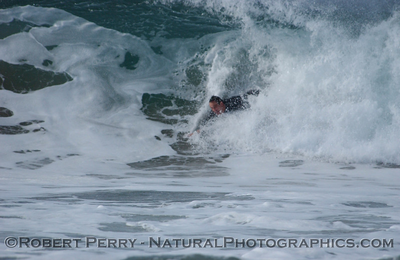 Bodysurfing Zuma, shorebreak part two of two.