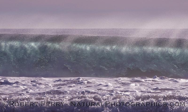 Crashing afternoon wave & spray 2009 12-17 Zuma - 067