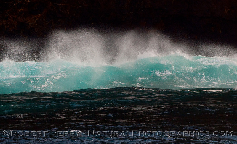 wave spray seacliffs 2010 01-02 Sta Cruz Island  - 004