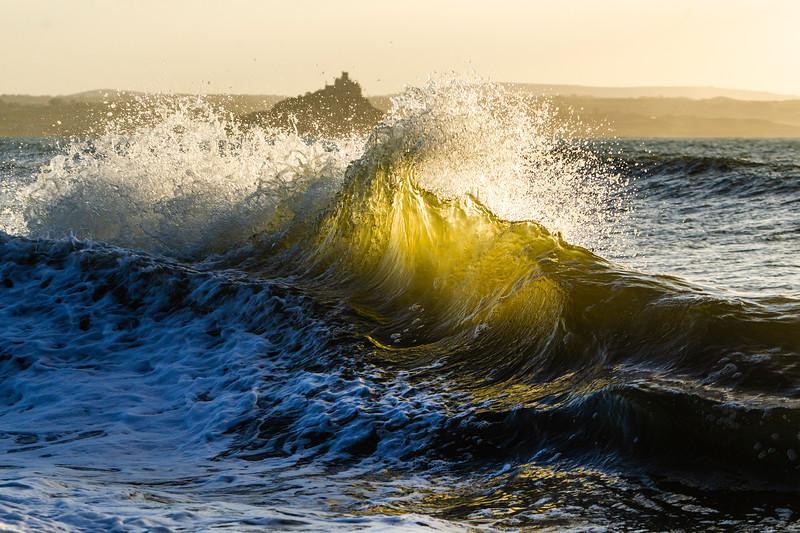 Waves on Penzance Promenade