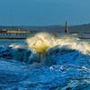 Waves on Penzance Promenade