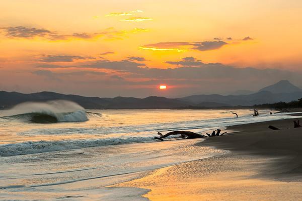 Empty Wave Sunset
