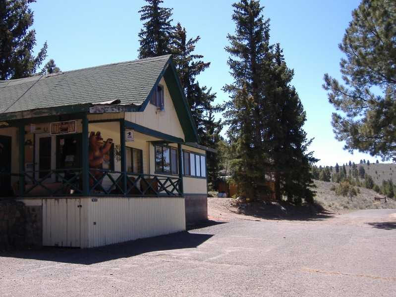 "The general store, restaurant, and offices of the quaint fishing resort. (FYI...""Panguitch"" is a Paiute word for ""big fish."") There are numerous cabins and RV sites for lodging, boats for hire, and fishing supplies for sale."