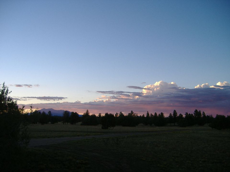 Sunset.  San Francisco Peaks at left.