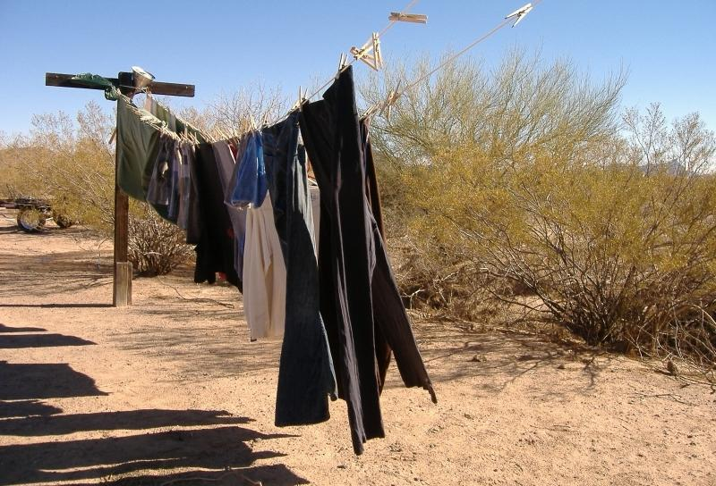 The solar dryer finishes the wash routine...leaving our laundry fresh and clean.