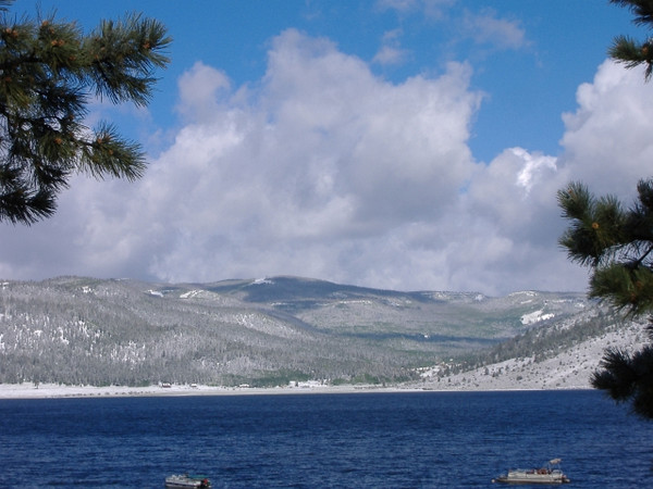 Summer snow at Panguitch Lake, UT. June.