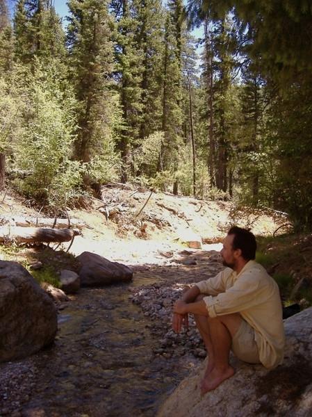 Rattlesnake Creek, accesible via a strenuous hike. Near Cedar Breaks National Monument. June.