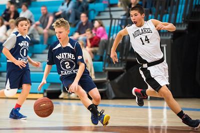 Wayne Eagles Mod Boys Basketball 8th Grade at Midlakes 111816