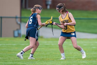 Wayne Eagles JV Girls Lacrosse vs Mynderse Cradle for a Cure 5-3-16