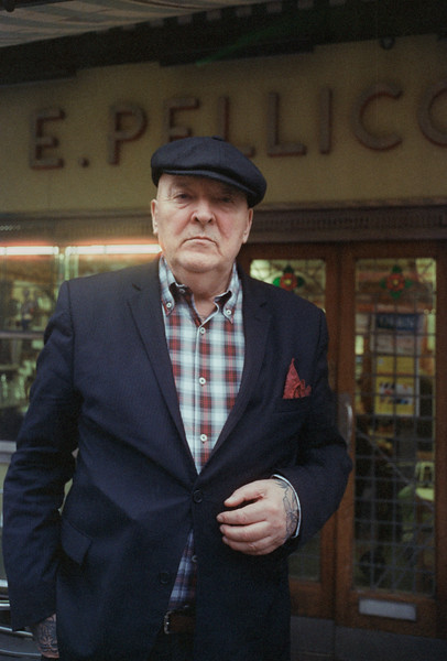 Shot on a Leica M3 outside the wonderful cafe Pellicci, Bethnal Green