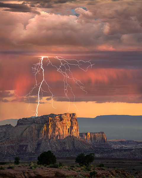 Lightning On The Butte