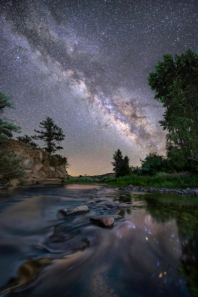 Milky Way Over The Gila River