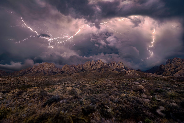 Winter Lightning Storm