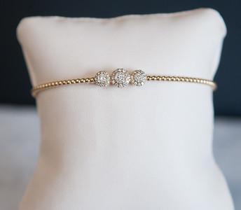 11: 14kt yellow gold cuff-bangle, .36ct total diamond weight. #170- 00073