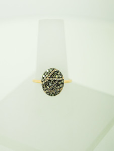 14KYG Ring with .63cttw diamonds & Black Accent. R- $990.00