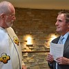 Fr. Ed greets visitors