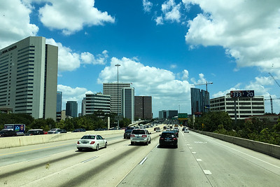Approaching Downtown Houston