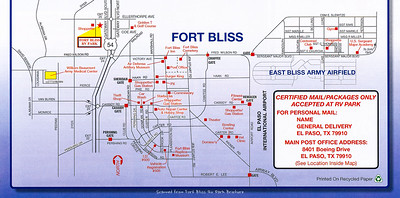 Ft Bliss Area Map