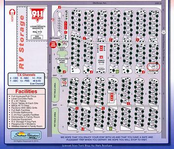 Fort Bliss RV Park Map
