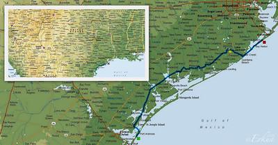 GWRVR to Galveston Island State Park