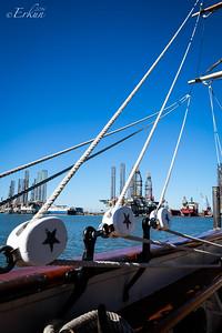 Tall ship Elissa - Braces