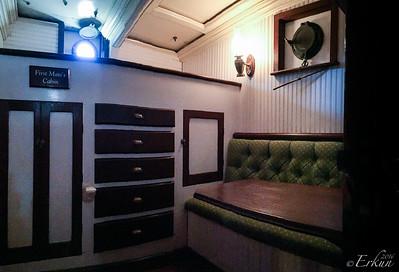 Tall ship Elissa - First Mate's Cabin
