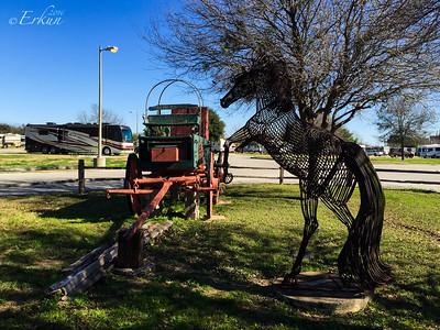 Fort Sam Houston Campground - Traveler (Sculptor: Esther Benedict)