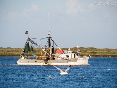 Sunset Cruise on the Island Queen - Port Aransas, Texas. 9 Oct 2014