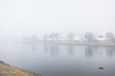Another misty day at Gulf Waters RV Resort. 13 Jan 2014