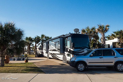 Our new home at Gulf Waters RV Resort - Site 461. 20 Jan 2014