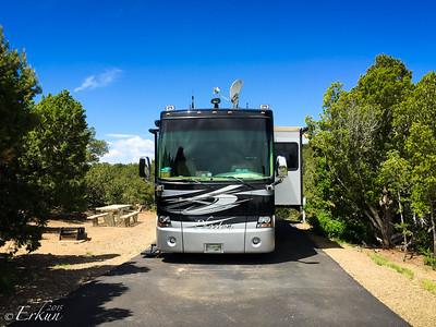 Carpios Ridge Campground - Lake Trinidad SP, Colorado. Site 34. 5-7 Jun 2015