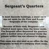 Barracks/Dining Hall - Sergeant's Quarters